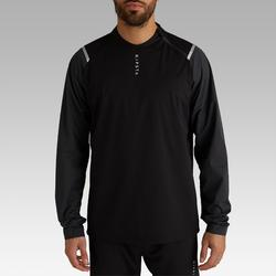 Coupe vent de football imperméable adulte T500 noir carbone