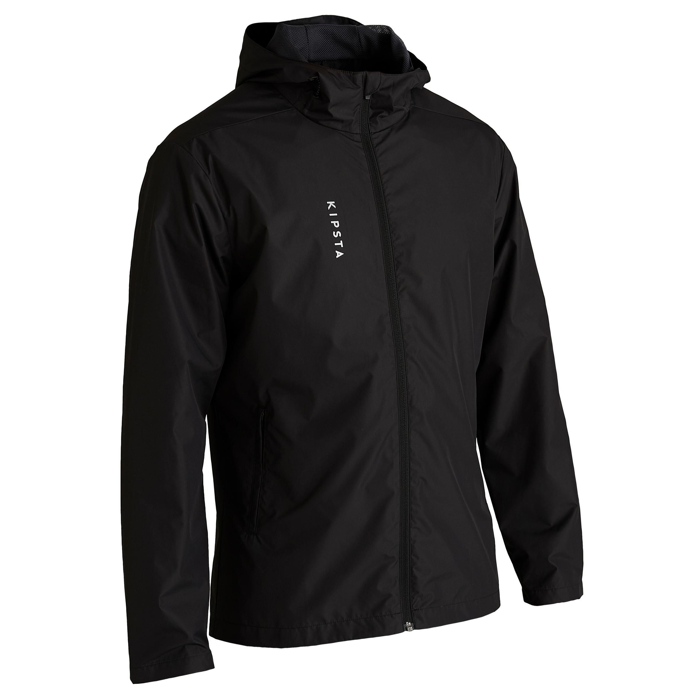 Kipsta Regenjas T100 voor volwassenen zwart