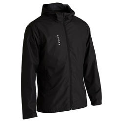 T100 Adult Football Waterproof Jacket - Black