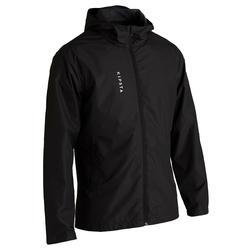 成人款足球防水外套T100-黑色