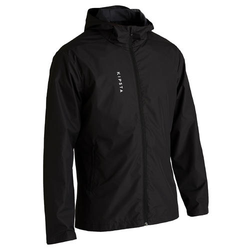 VESTE DE FOOT IMPERMEABLE ADULTE T100 NOIR