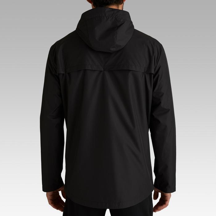 T100 Adult Football Waterproof Jacket - Black
