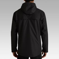 Veste de football imperméable T100 adulte noir