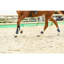 Protectores abiertos para caballo 500 JUMP azul marino