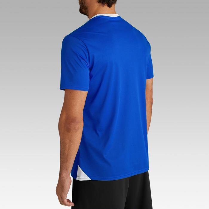 成人款美式足球短袖上衣F100-藍色