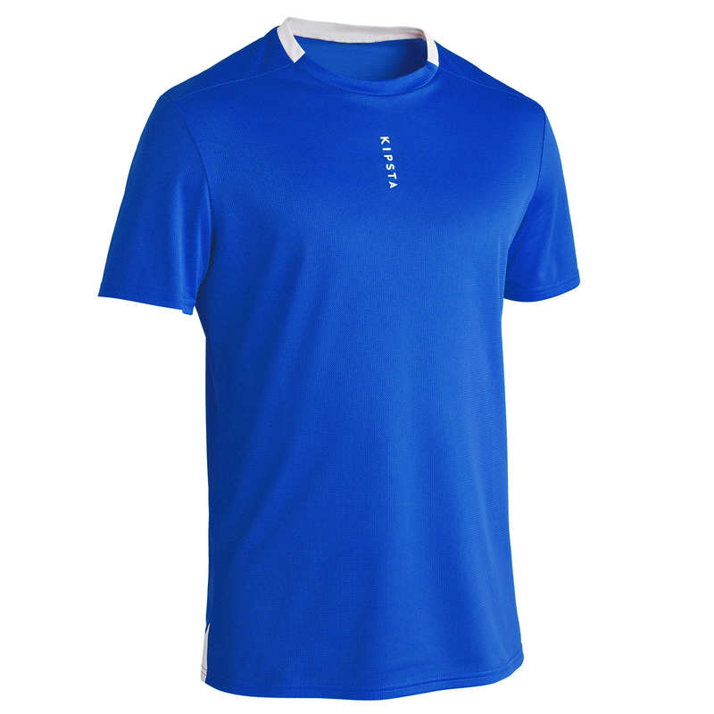 AD WARM WEATHER OUTFIT MATCH & TRAINING Football - F100 Adult - Blue KIPSTA - Football Clothing