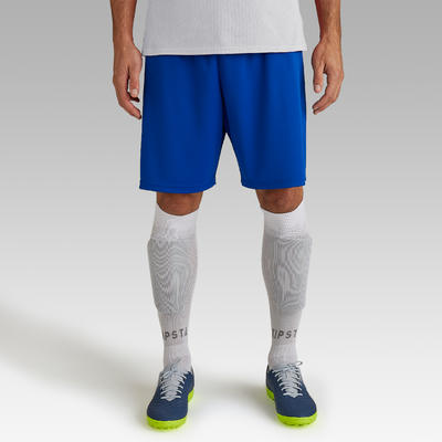Short de football adulte F100 bleu