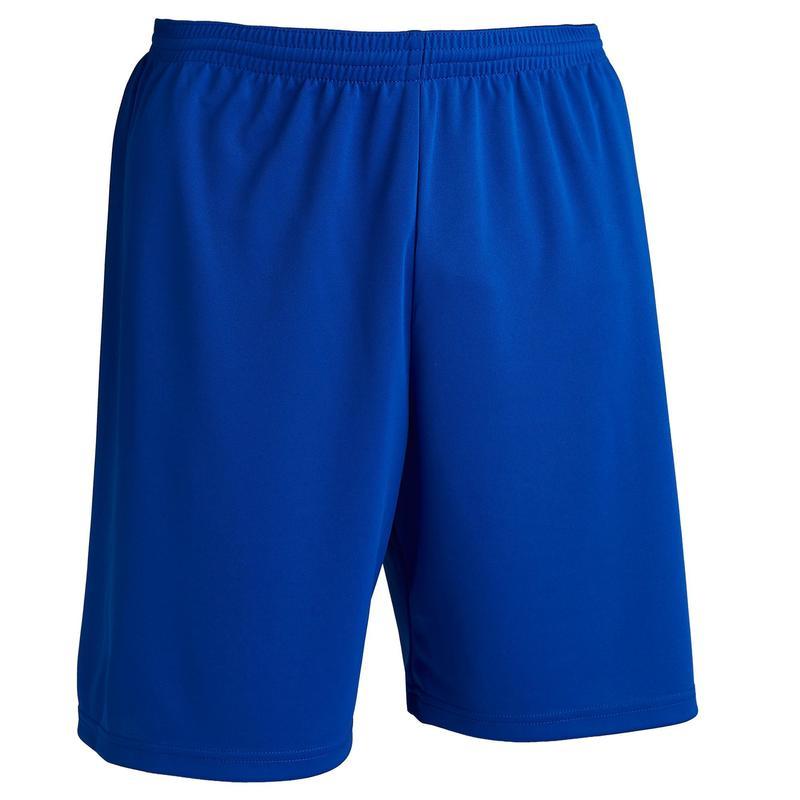 Voetbalshort voor volwassenen F100 milieuvriendelijk blauw