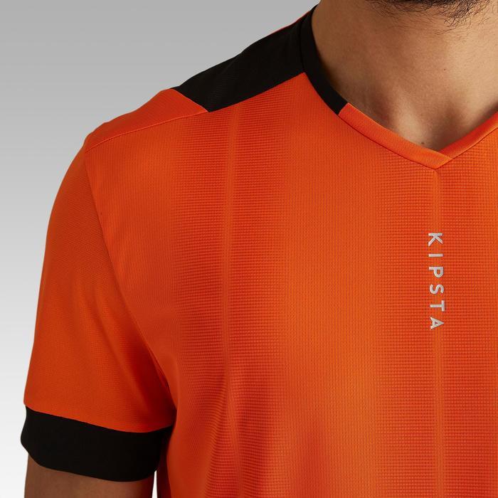 成人款足球上衣F500-橘色