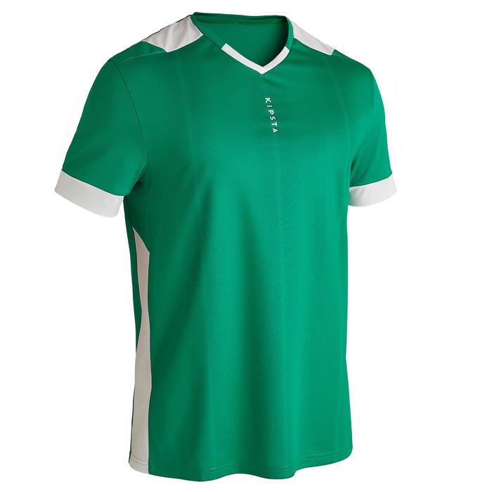 成人款足球上衣F500 - 綠色