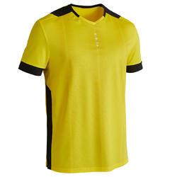 Voetbalshirt voor volwassenen F500 geel