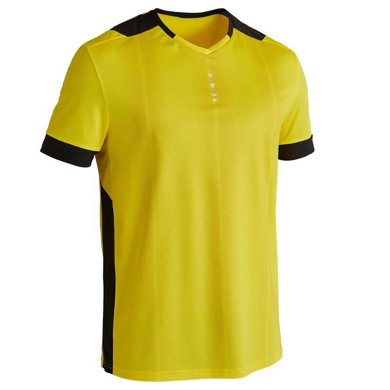 SOUPRAVY NA TRÉNINKY/ZÁPASY ZA TEPLÉHO POČASÍ Fotbal - DRES F500 ŽLUTÝ KIPSTA - Fotbalové oblečení