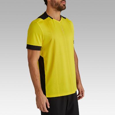 Maillot de football adulte F500 jaune