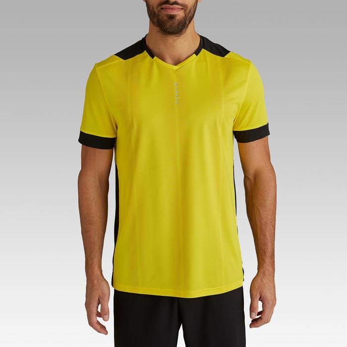 Maillot de football adulte F500 jaune