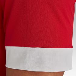 成人款足球上衣F500-紅色