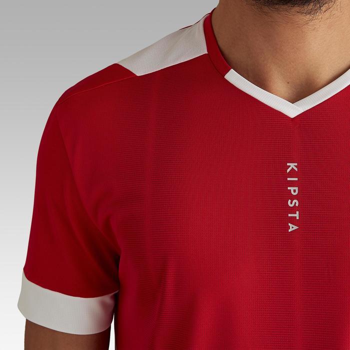 成人款足球上衣Kipsta F500-紅色