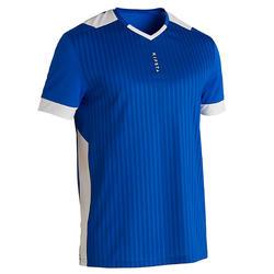 成人款足球上衣F500-藍色