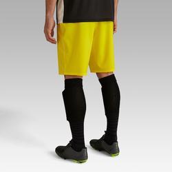Short de football adulte F500 jaune