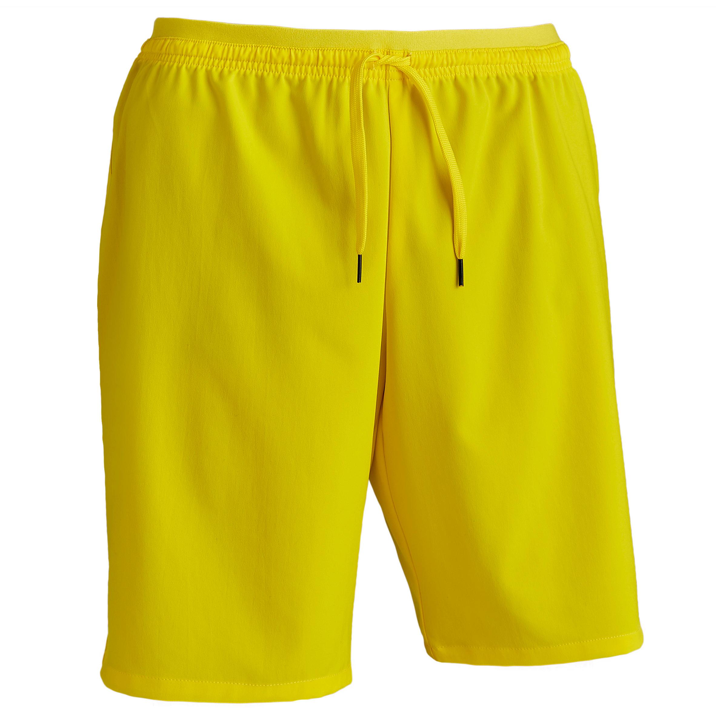 Fußballshorts F500 Erwachsene gelb | Sportbekleidung > Sporthosen > Fußballhosen | Gelb | Kipsta