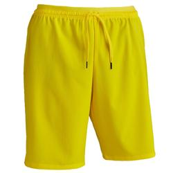 Pantalón corto de Fútbol adulto Kipsta F500 amarillo