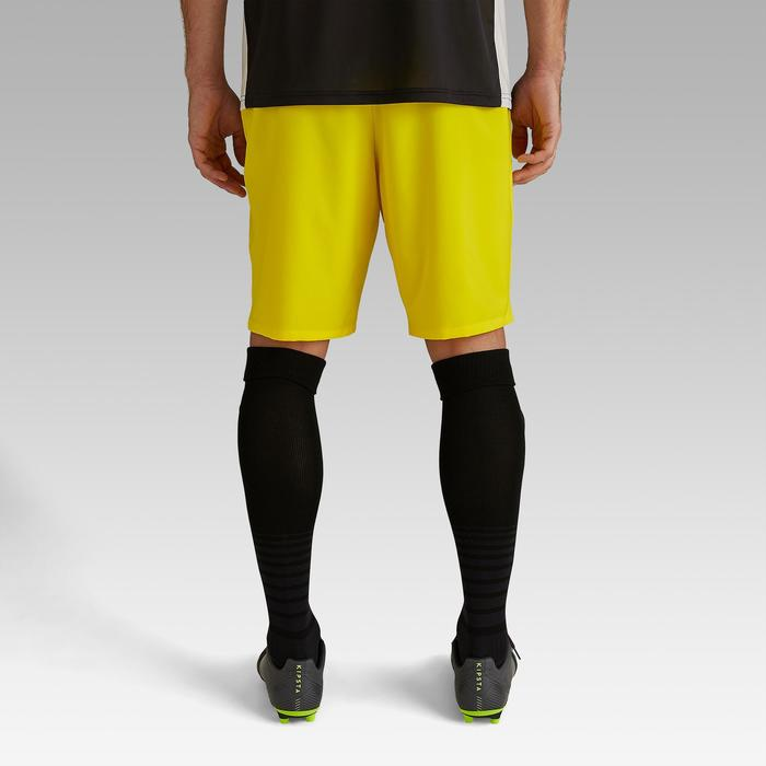 Short de football adulte F500 jaune