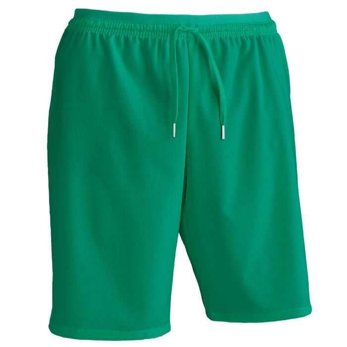 Fußballshorts F500 Erwachsene grün