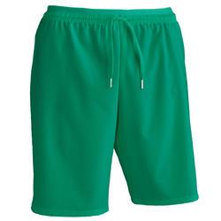 Pantalón corto de Fútbol adulto Kipsta F500 verde