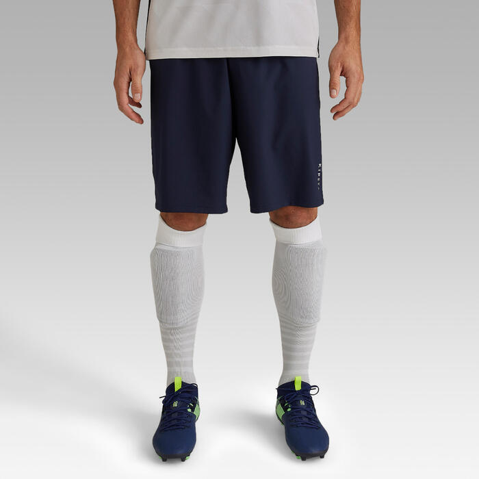Short de football adulte F500 bleu marine