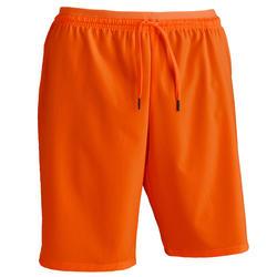 Pantalón corto de Fútbol adulto Kipsta F500 naranja