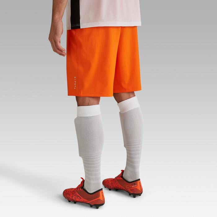 成人款足球短褲F500-橘色