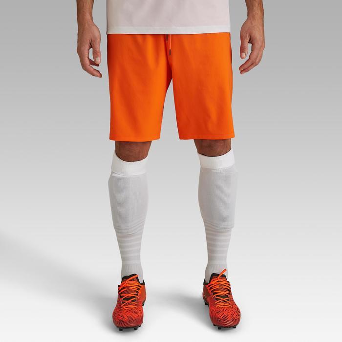 Voetbalshort voor volwassenen F500 oranje
