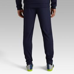 Pantalon football adulte T100 bleu marine