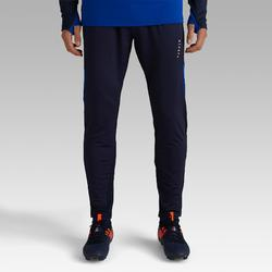 Pantalon de football adulte T500 bleu marine