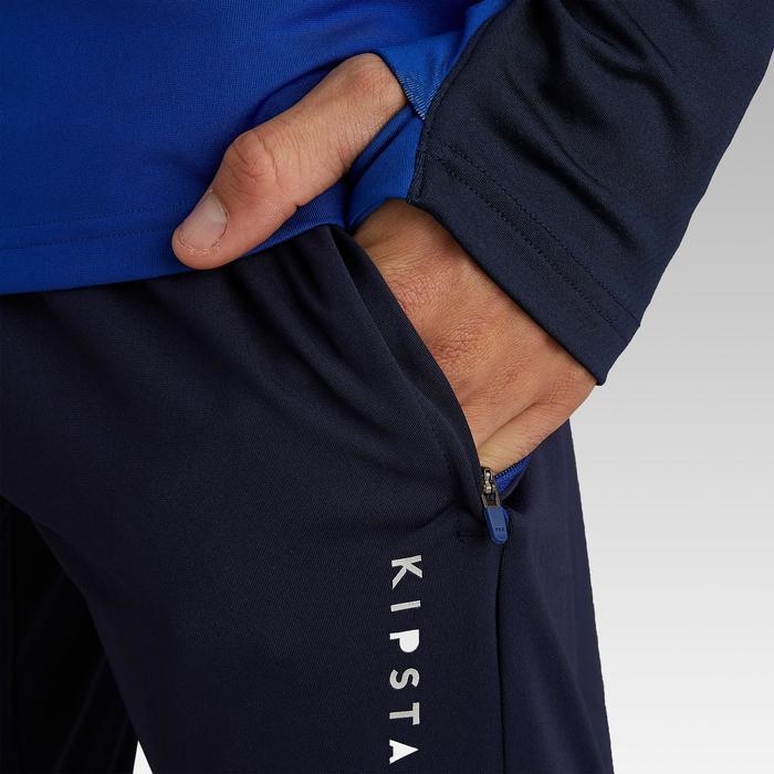 Pantalon de football adulte T500 bleu foncé