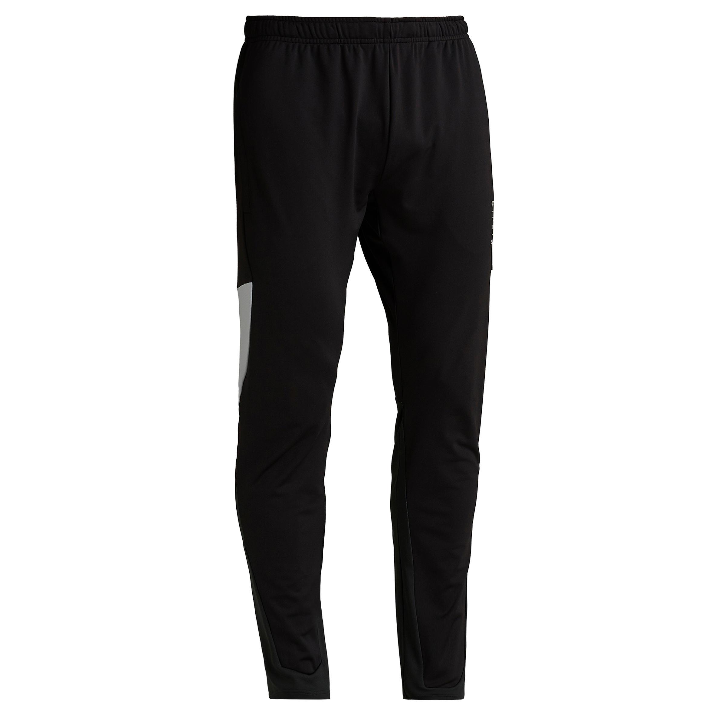 Pantalón de fútbol T500 negro carbono