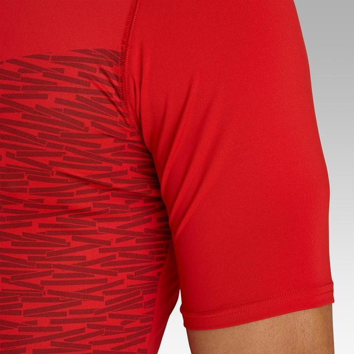 Camiseta Térmica Manga Corta Kipsta KDRY100 Hombre Rojo Intenso
