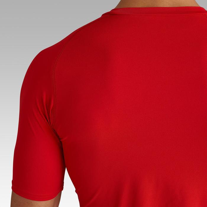 Camiseta térmica de fútbol manga corta adulto Keepdry 100 rojo
