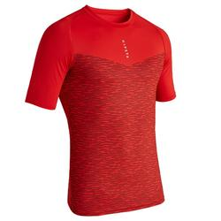 Sous maillot de football manches courtes adulte Keepdry 100 rouge