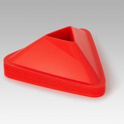 Set van 10 oranje trainingshoedjes voor voetbal Essential oranje