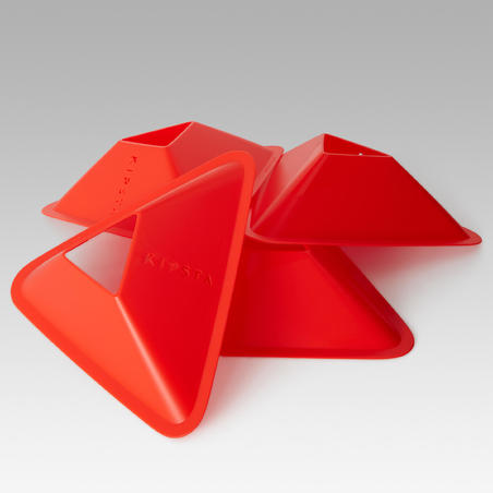 Pqt. de 10 conos de entrenamiento de fútbol Essential naranja