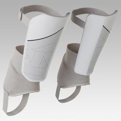 Schienbeinschoner F140 mit herausnehmbarem Knöchelschutz Erwachsene weiß