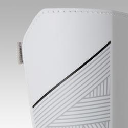 Protège-tibias de soccer avec chevillère adulte F140 blanc