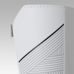 Scheenbeschermers voetbal F140 met afneembare enkelsok wit
