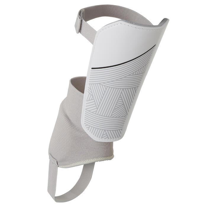 Schienbeinschoner F140 mit Knöchelschutz Erwachsene weiß