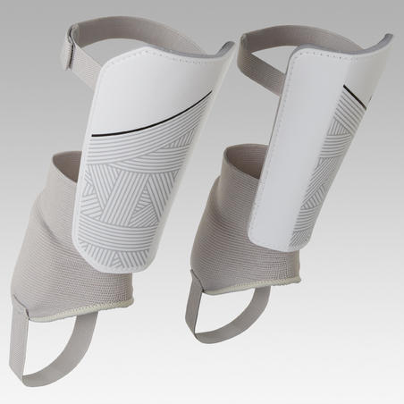 F140 Kids' Detachable Ankle Guard Soccer Shin Pads - White