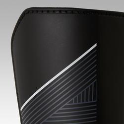 Espinilleras de fútbol adulto tobillera desmontable F140 negro