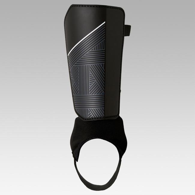 F140 Adult Football Shin Pads - Black