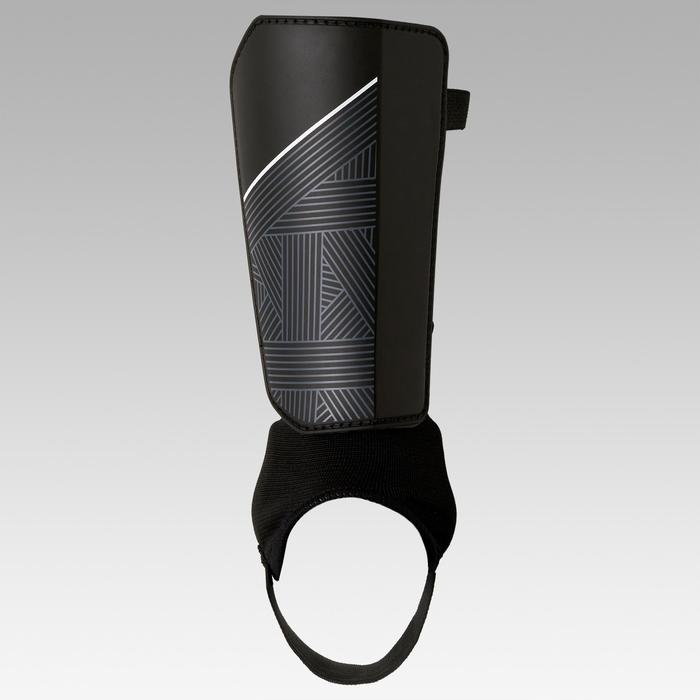Schienbeinschoner F140 mit Knöchelschutz Erwachsene schwarz