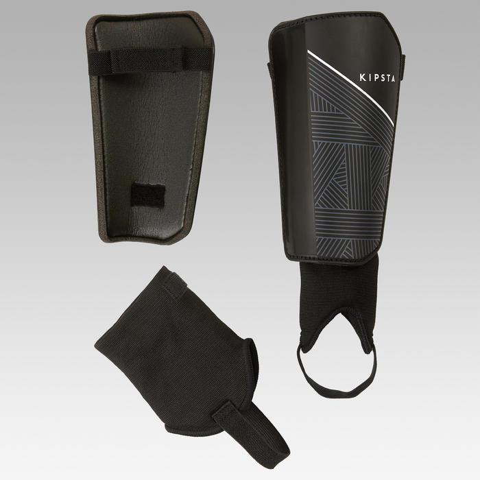 Schienbeinschoner F140 mit herausnehmbarem Knöchelschutz Kinder schwarz