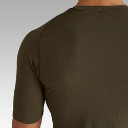 Camiseta térmica de fútbol manga corta adulto Keepdry 100 caqui